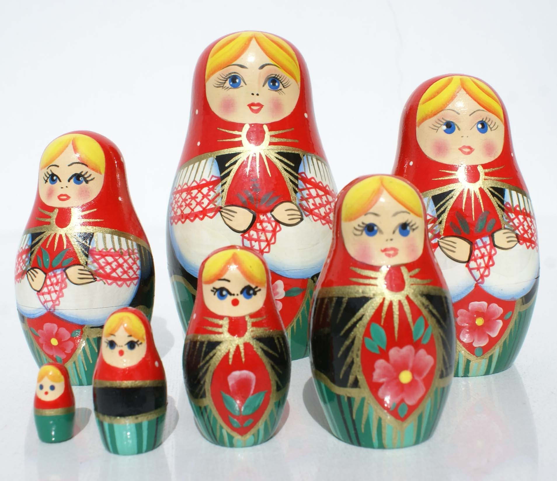 matryoshka babushka babooshka wooden stacked russian nesting dolls for sale gifts and. Black Bedroom Furniture Sets. Home Design Ideas
