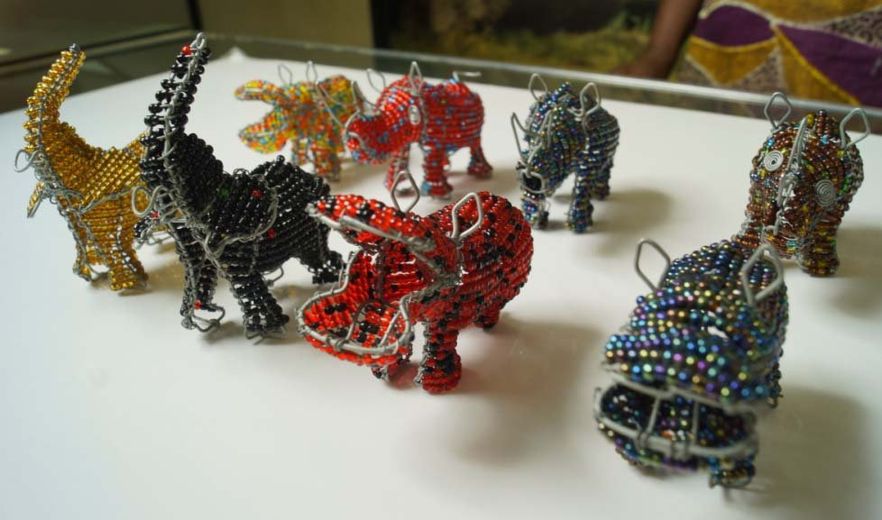 Lot 5 Metal Animals African Art and Crafts, Hand Woven of ...
