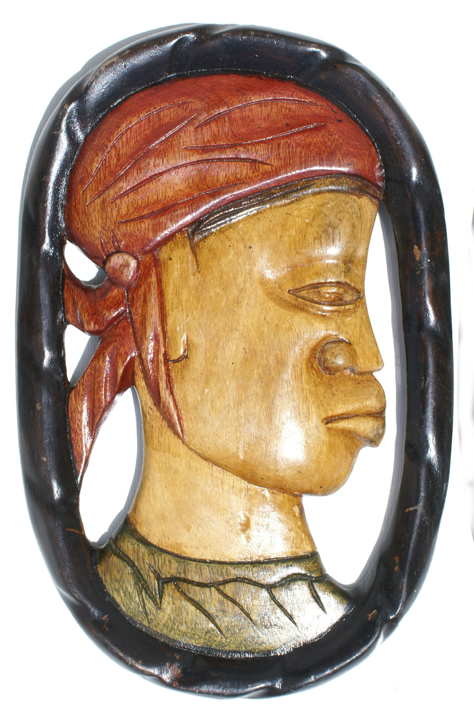 Traditional Haitian Mask Wall Decor - Woman, Cultural Handicrafts of ...