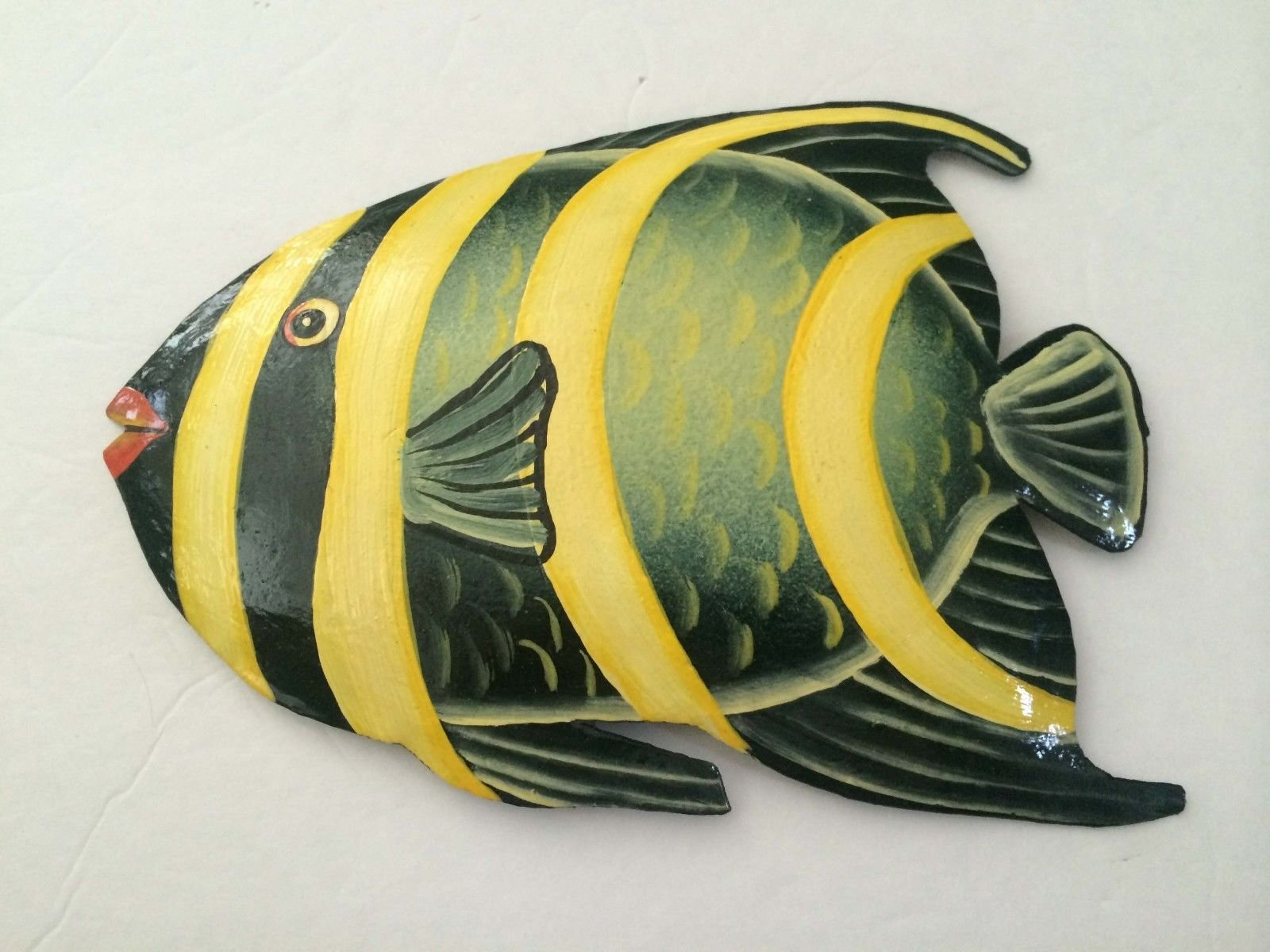 New Tropical Fish Haitian Metal Art Wall Room Decor Handcrafted Wall ...