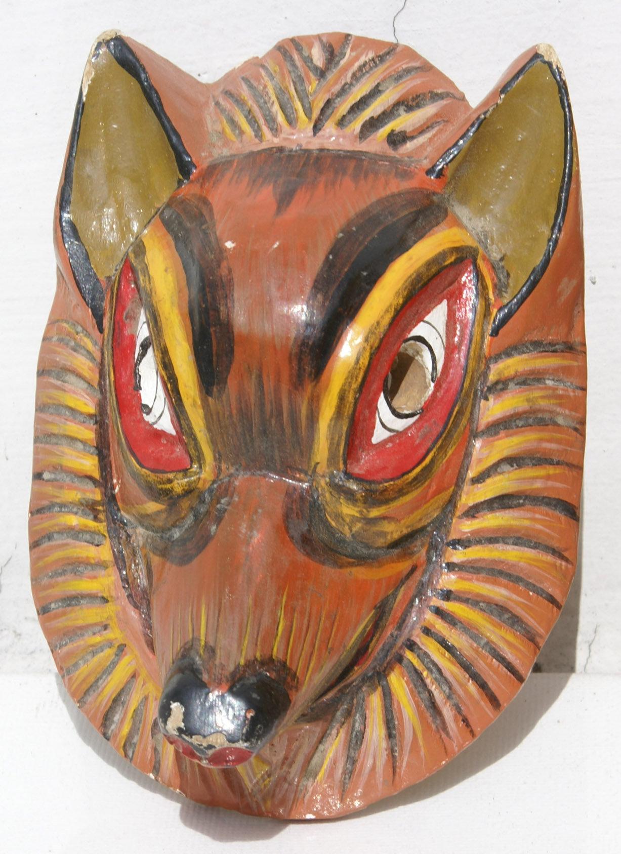 Dog Wooden Mask Handmade in Ecuador, Animal Wood Masks for ...