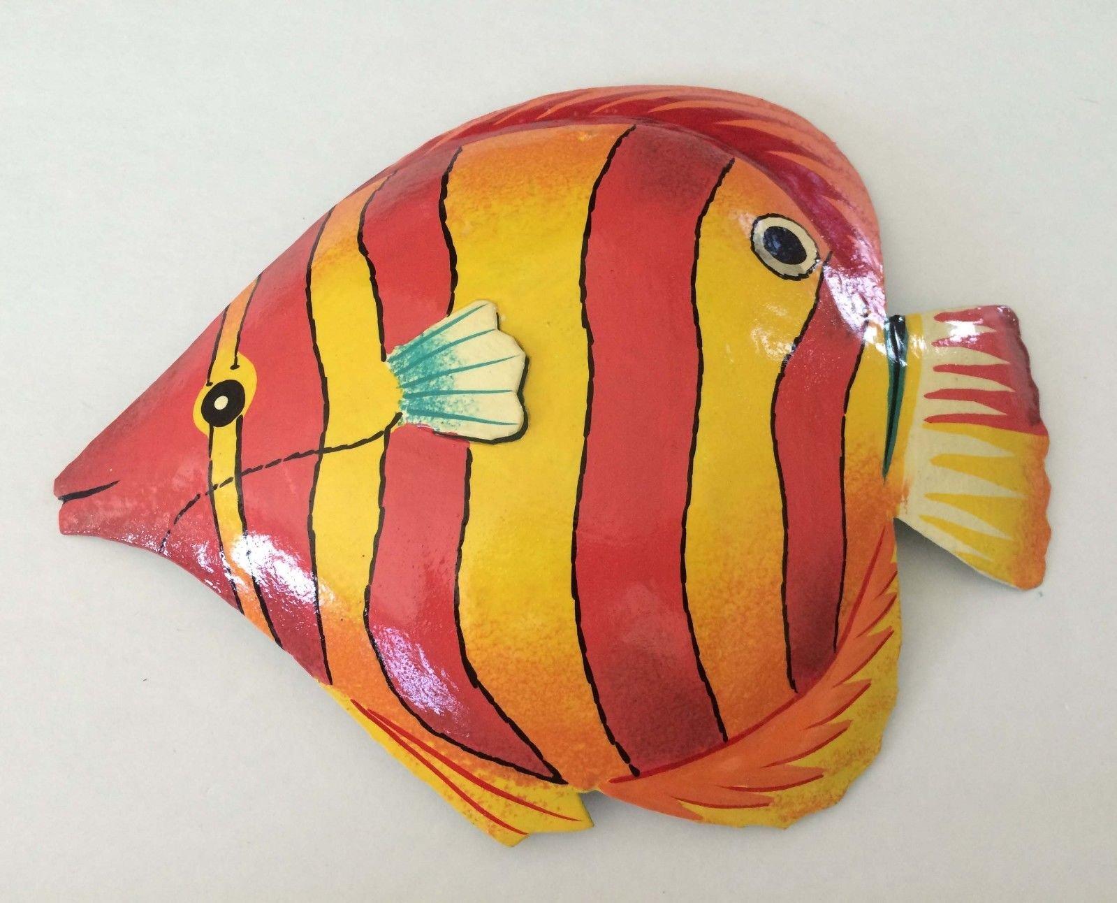 Haitian Crafts Tropical Fish Haitian Metal Art Wall Decor - $18.95 ...