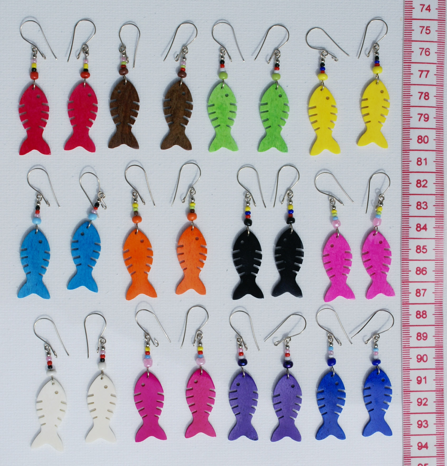 Lot12 pairs earrings color tropical fish ornament for Tropical fish wholesale