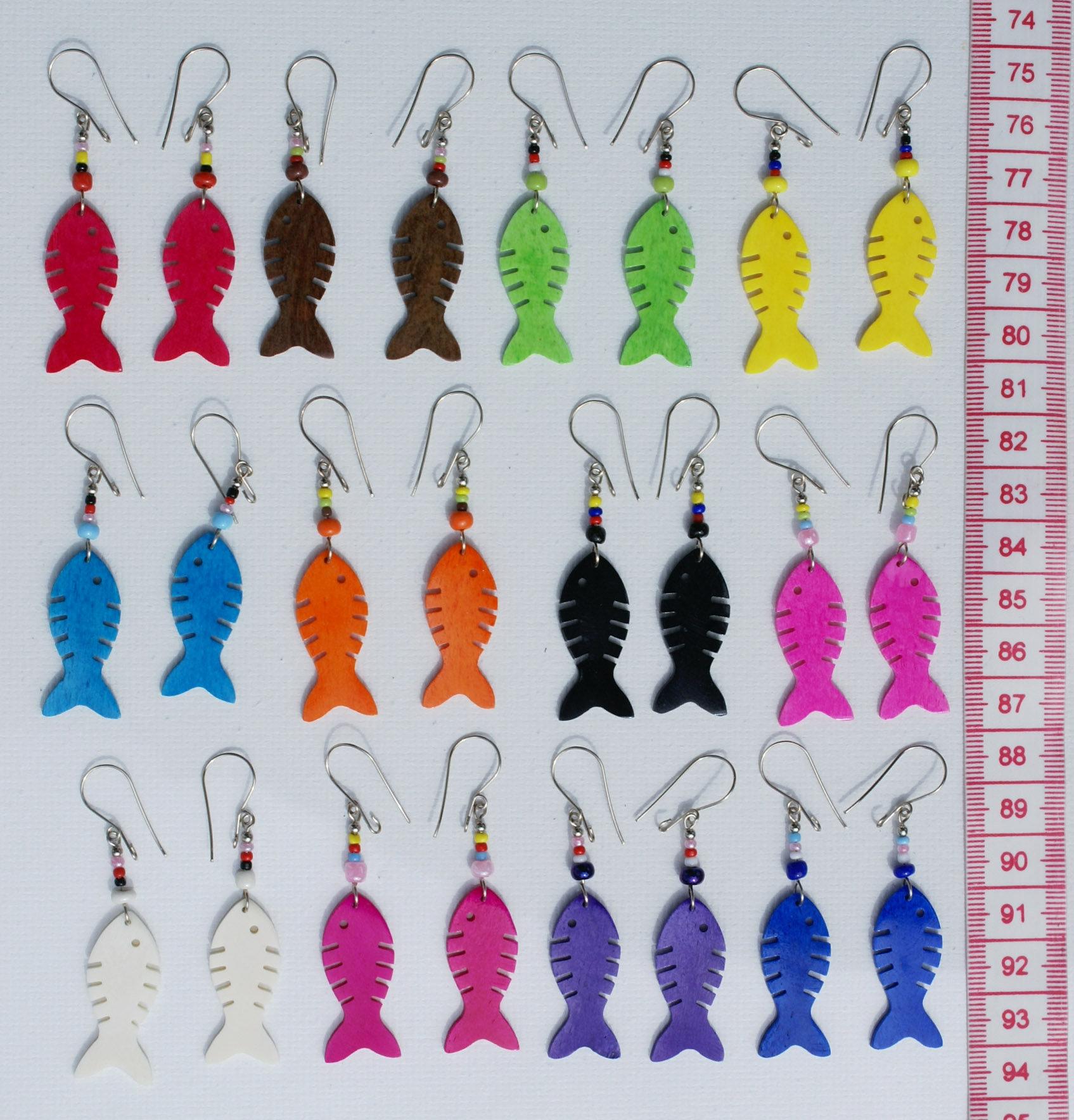 Lot12 Pairs Earrings Color Tropical Fish Ornament