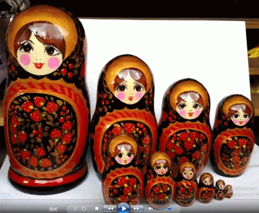 Matryoshka Russian Wooden Babushka Doll Handmade Nesting Dolls Art Russia Set7pc