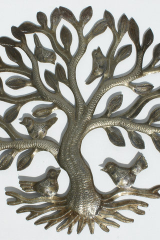 Metal Tree of Life with Birds Wall Art Metal Wall Hangings Haitian ...