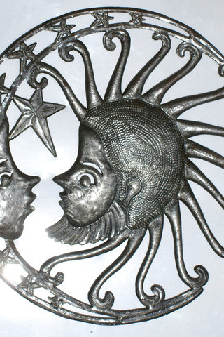 Colored Sun with Moon Metal Celestial Wall Decor Buy Art Paintings ...