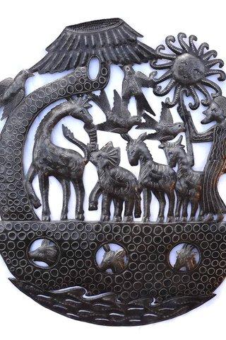 Noah\'s Ark Wall Sculpture, Haitian Metal Wall Art, Fair trade From ...